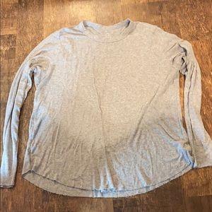 Aerie soft long sleeve shirt grey size XL